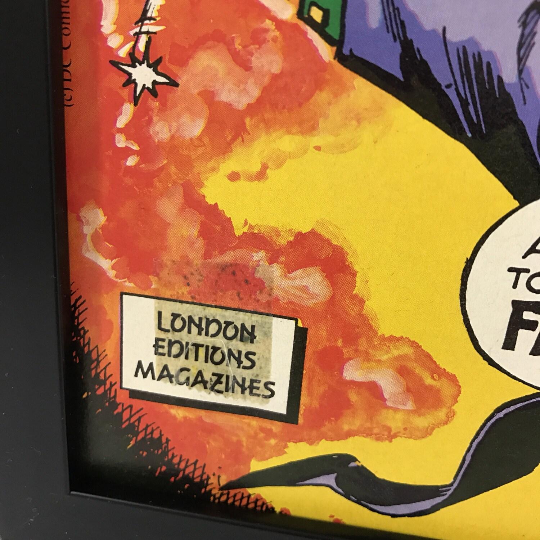 Retro Comic Frame Vintage Batman, 1980\'s Magazine Art Wall, Decor ...