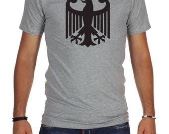 GERMAN EAGLE Volkswagen Audi BMW t-shirt  vw grey green new style mercedes benz