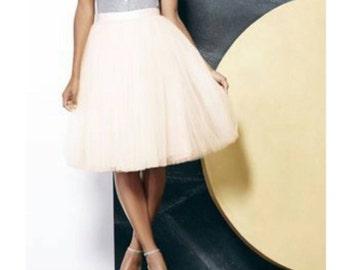 Champagne Very Full Tulle Skirt