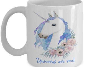 Unicorns Are Real Mug Gift for Friend