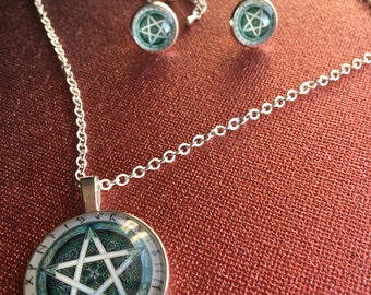 WICCAN SET gothic and wiccan style