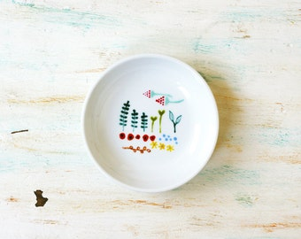 Hand painted porcelain mini dish - My wildflower collection