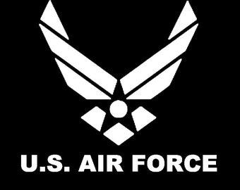 US Air Force Logo Vinyl Window Decal ~ Military ~ Laptop Decal ~ Skin ~ USAF