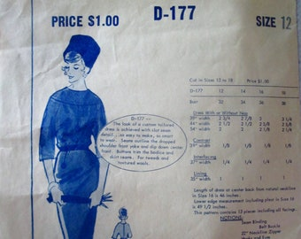 RARE: Modes Royale D-177 Womens 50s Tailored Dress Bust 32