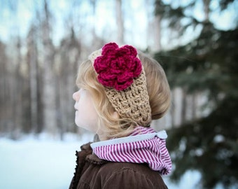 Crochet Pattern - Elisabeth Headwrap (Baby to Adult Sizes)