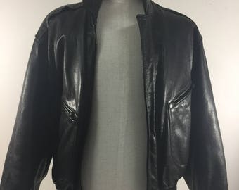 Hugo Boss Man's Clack Leather Jacket Vintage 1990's Excellent Condition
