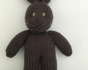 Organic Bunny - Stuffed Animal - Knitted Bunny - Handmade Toy - Stuffed Bunny - Soft Toy - Waldorf Bunny