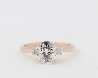 Oval Engagement Ring, Moissanite Engagement Ring, Engagement Ring, Oval Moissanite, Diamond Engagement Ring