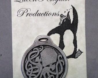 Elegant Aged Pewter Cthulhu keychain