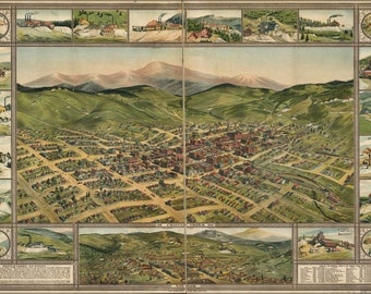 Poster, Many Sizes Available; Map Of Cripple Creek, Colorado 1896