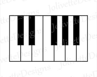keys clip art etsy rh etsy com music keyboard clipart images