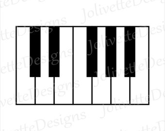 Piano, Piano Keys, Notes, Music, Keyboard Clip Art, Clipart, Design, Svg Files, Png Files, Eps, Dxf, Pdf Files, Silhouette, Cricut, Cut File