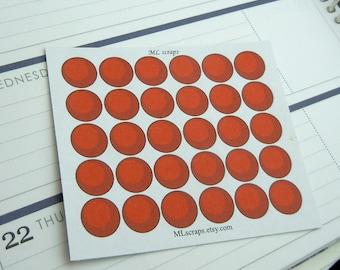 Kickball/Dodgeball Stickers-Set of 30