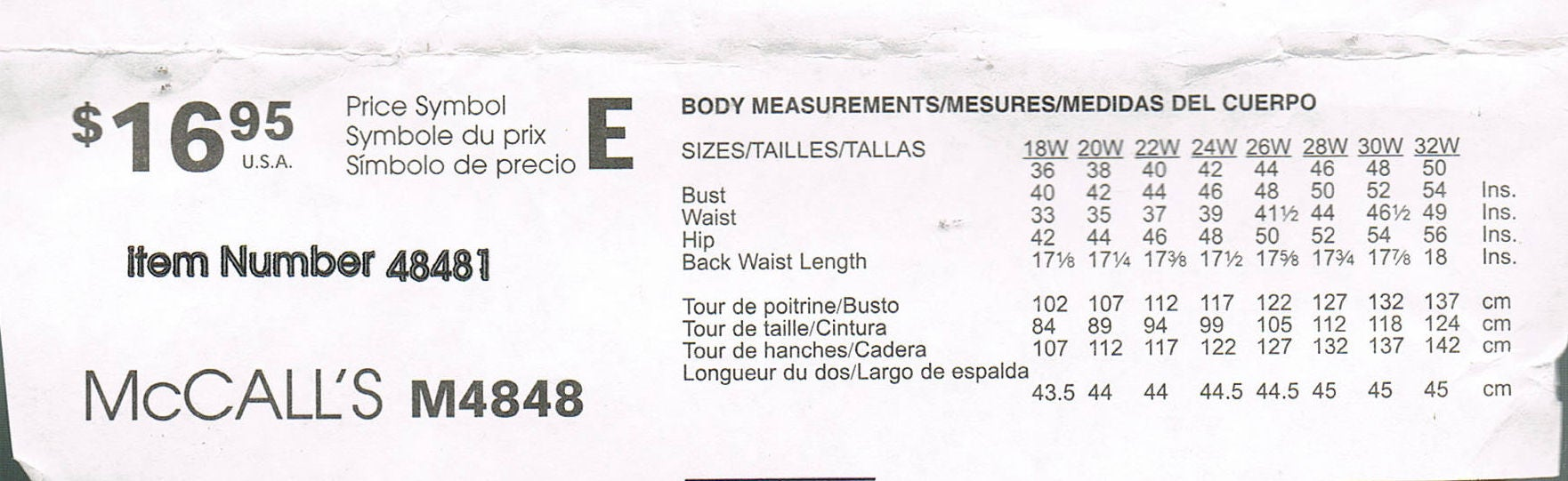 Size 18 24 Misses Plus Size Swimsuit Sewing Pattern Two Piece