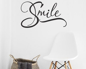 Smile Wall Decal, Smile Vinyl Decal, Smile Word Art, Dentist office decor, Dental Decor, Wall Decal Dentist, Office decor, Bathroom Decor