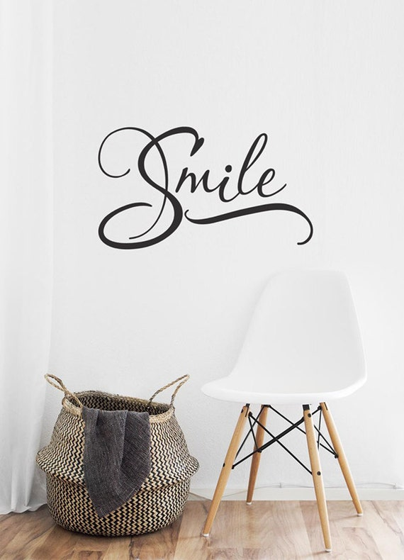 Smile Wall Decal Smile Vinyl Decal Smile Word Art Dentist - Window decals for dental office