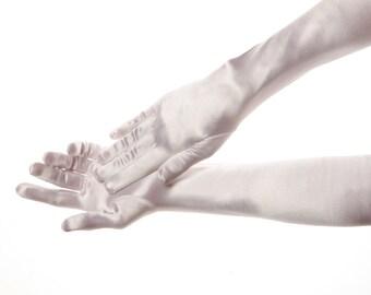 Long Wedding Gloves Long Bridal Gloves White Wedding Gloves White Bridal Gloves Satin Gloves Bridal Accessories Evening Gloves Opera Gloves