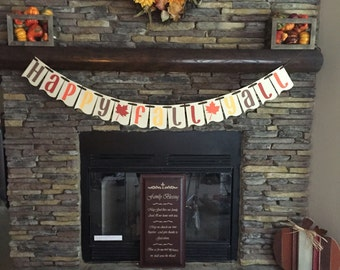 Happy Fall Yall Fall Banner Blessed Mantle Decoration happy fall banner photo prop thanksgiving halloween decor