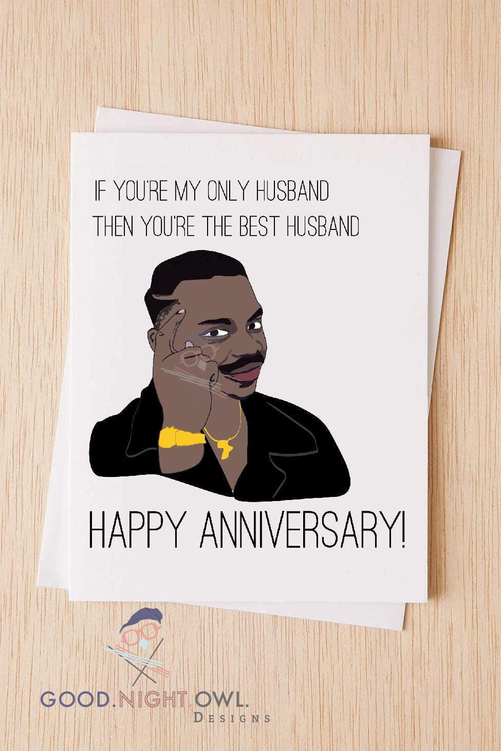 Roll Safe Meme Card Happy Anniversary RS Meme Card for