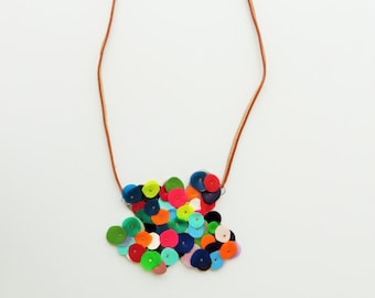 unique necklace for her, colorful necklace, bib necklace, gift ideas for her , Summer trends, latex, geometric jewelry, gift for her