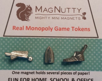 Classic Monopoly Tokens & Houses/Hotels: super-strong MagNutty magnets