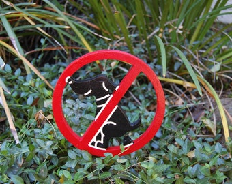 No Dog Poop Outdoor Wood Sign