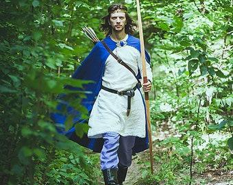 Medieval cloak, Medieval wool mantle, Elven cape, Fantasy cloak