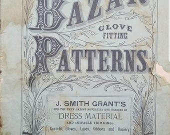 1880s McCall Sewing Pattern Catalog - Patterns Bazar - 1890s Catalog - Victorian Fashion Catalog - Victorian Magazine Instant PDF Download