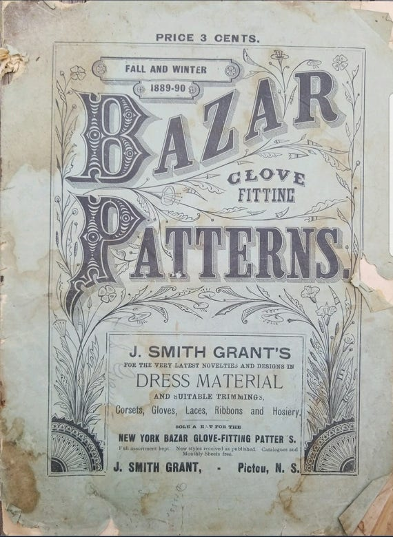 1880s McCall Sewing Pattern Catalog Patterns Bazar 1890s