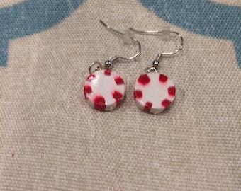Clay peppermint earrings
