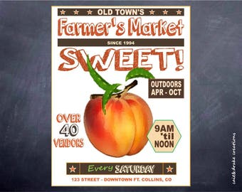Farmer's Market Downtown Vendors Flyer Digital Printable