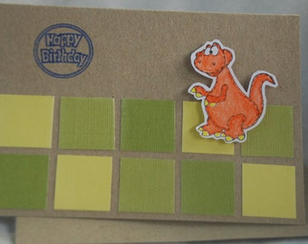 Choose Your Sentiment for Your Dinosaur Card Handmade Card