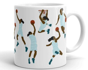 Women's Basketball Mug // WNBA // Basketball Fans // Sports Gifts // Basketball Coach // Black Culture // African American // NBA