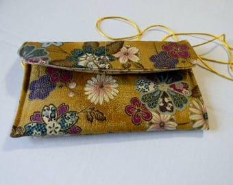 Yellow Asian Floral Hip Bag