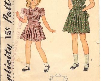 Simplicity 3546  Sewing Pattern  1940's Chlids Dress  ID570  Size 6