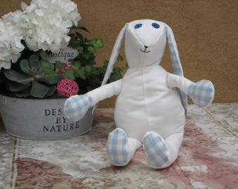 Lovely hare in blue , made by myself.