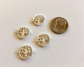 Tree of Life Leaf Charms-Sterling Silver Charms