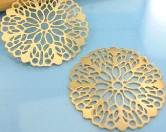 """2 prints watermark """"Rose"""" gold matte - Diam: 26 mm # P40"""