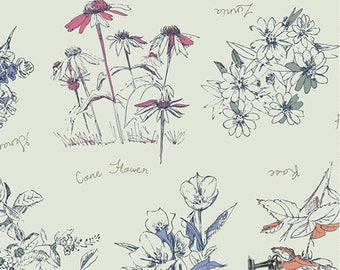 1/2 yd Sketchbook Botanical Innocence by Sharon Holland for Art Gallery Fabrics SBK-47209