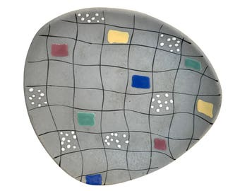 Memphis Group Style Grey Platter-Tray