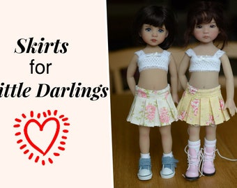 "Update 3/17: Skirts for Little Darling Dolls 13"" Dianna Effner"