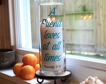 Christian Friend Gift, Christian Friend, Christian Friendship Gift, Christian Friendship, Religious Friend Gift, Religious Gifts, Proverbs