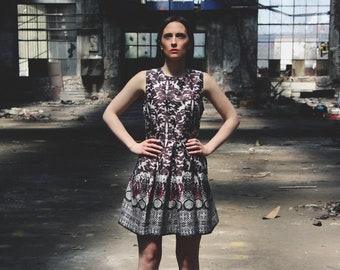 Sleeveless dress in floral motif cotton, sundress, perfect summer dress