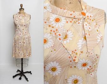 vintage 60s drop waist dress | floral print