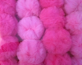 "Craft Supply Loose Mini Pom Poms, Tulle Pom Poms, Supplies, 2"" poms, 20 Pc. Set"