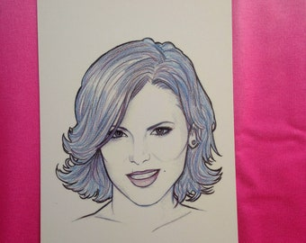 Drawing Evil Queen A5