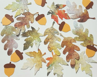 Leaves and acorns for decoration or fall decor autumn creating my little stationery creation