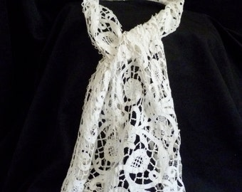 Antique tape lace neckpiece. Dress up an outfit or use in a DIY project