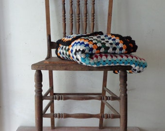 Vintage Wooden Spindle Back Chair - Rustic Farmhouse Decor - Pick Up Only