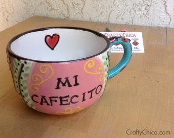 Ceramic Latte Mug MEXI-BOHO